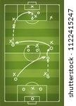 football match strategy scheme. ... | Shutterstock .eps vector #1122415247