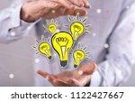 innovation concept between... | Shutterstock . vector #1122427667