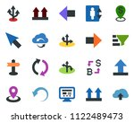 colored vector icon set  ... | Shutterstock .eps vector #1122489473
