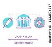 vaccination concept icon....   Shutterstock .eps vector #1122576317