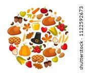 happy thanksgiving.... | Shutterstock . vector #1122592673