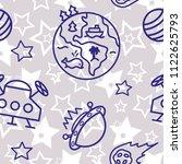 space   star   spaceship  ... | Shutterstock .eps vector #1122625793