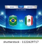 brazil vs mexico scoreboard...   Shutterstock .eps vector #1122629717