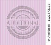 additional vintage pink emblem | Shutterstock .eps vector #1122672113