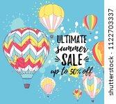 vector illustration  summer... | Shutterstock .eps vector #1122703337