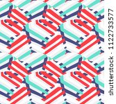 vector abstract striped pattern ... | Shutterstock .eps vector #1122733577
