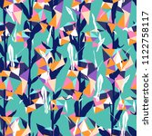 organic floral pattern with... | Shutterstock .eps vector #1122758117