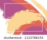 horizontal border with paint... | Shutterstock .eps vector #1122788153