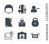 premium outline  fill icons set ... | Shutterstock .eps vector #1122812573