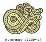 ethnic tribal native celtic... | Shutterstock .eps vector #112289417