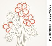 vintage square flower card.... | Shutterstock .eps vector #112290083