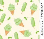 green tea ice cream seamless... | Shutterstock .eps vector #1122908567