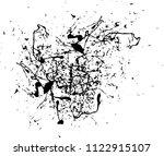 abstract black ink splash...   Shutterstock .eps vector #1122915107
