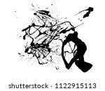 abstract black ink splash...   Shutterstock .eps vector #1122915113