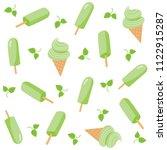 green tea ice cream seamless... | Shutterstock .eps vector #1122915287