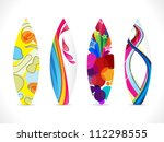 abstract colorful surf board icon vector illustration - stock vector