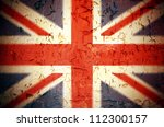 Vintage effect Union Jack grunge background - stock photo