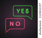 yes and no icon neon light... | Shutterstock .eps vector #1123012157