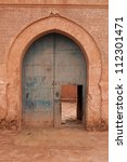 A good example of Moorish architecture in this arched doorway - stock photo