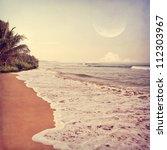 vintage beach background | Shutterstock . vector #112303967