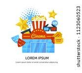 vector illustration  banner... | Shutterstock .eps vector #1123060523