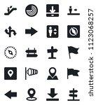 set of vector isolated black... | Shutterstock .eps vector #1123068257