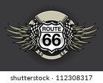 route 66 racing design  vector...   Shutterstock .eps vector #112308317