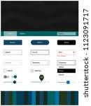 dark blue  green vector ui ux...