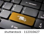 transport delivery key with... | Shutterstock . vector #112310627