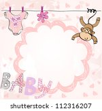 cute scrapbook  for girl with... | Shutterstock .eps vector #112316207