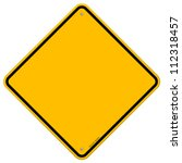 isolated blank yellow sign  ... | Shutterstock .eps vector #112318457