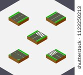 isometric way set of flat  foot ...   Shutterstock .eps vector #1123250213
