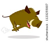 cute boars or warthog character ... | Shutterstock .eps vector #1123255007