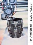 3d printer printing a model in...   Shutterstock . vector #1123276613