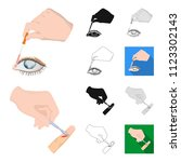 manipulation by hands cartoon... | Shutterstock .eps vector #1123302143