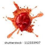 splattered tomato and crushed... | Shutterstock . vector #112333907