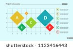 six colorful rhombs on grid... | Shutterstock .eps vector #1123416443