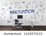 innovation concept with... | Shutterstock . vector #1123473113