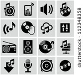 Music icons set. - stock vector