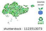 ecology singapore map collage... | Shutterstock .eps vector #1123513073
