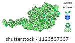 ecology austria map collage of... | Shutterstock .eps vector #1123537337