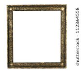 beautiful ancient frame for a picture isolated white - stock photo