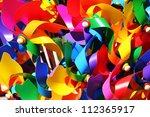 colorful windmills. - stock photo