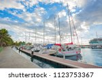 papeete  french polynesia  ... | Shutterstock . vector #1123753367