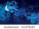 vector night starry sky with...   Shutterstock .eps vector #112378187