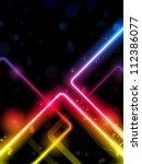 vector   rainbow  lines... | Shutterstock .eps vector #112386077