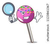 detective lollipop with... | Shutterstock .eps vector #1123861367