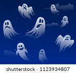 ghost apparition spook horror a ... | Shutterstock .eps vector #1123934807