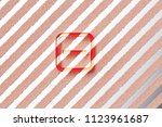 red minus in square icon on the ... | Shutterstock . vector #1123961687