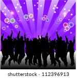 a lot o silhouettes people... | Shutterstock .eps vector #112396913